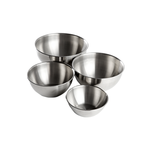 Stainless steel mixing basin 4 sets