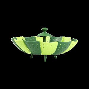 Lotus shaped folding steamer / fruit basket