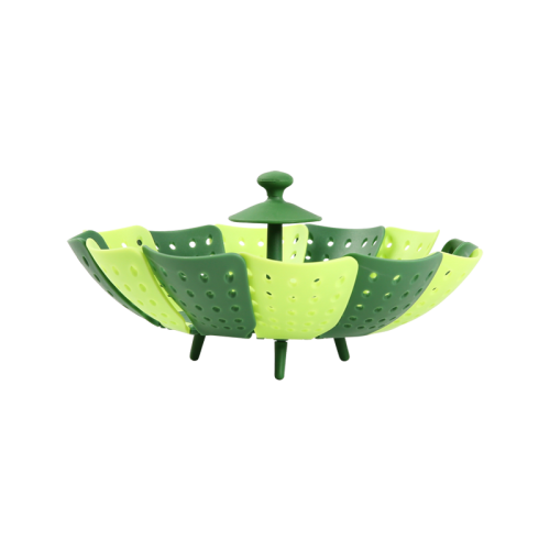 Lotus shaped folding steamer / fruit basket