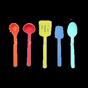 Non-stick tabletop silicone kitchenware set of 5