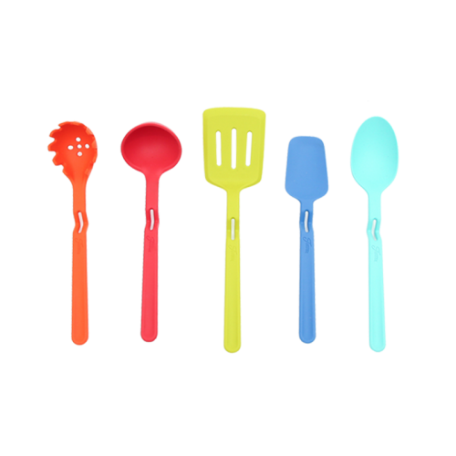Non-stick tabletop silicone kitchenware set of 5